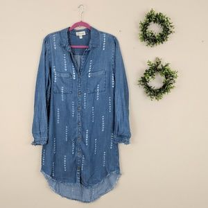 Anthropologie | Cloth & Stone Arrow Chambray Dress